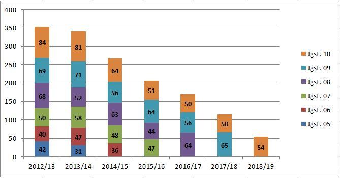 Schülerzahlenstatistik Hauptschule