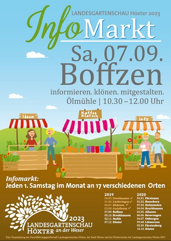 Plakat zum Infomarkt in Boffzen am 07.09.2019 © fiendesign